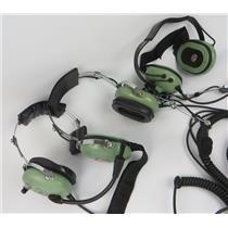 Lot Of 3 David Clark H3492 H3335 H3340 Communication Headsets W/ Mics - UNTESTED