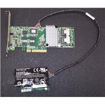LSI Logic MegaRAID 9261-8i 8-port PCIex 8 SAS Controller L3-25239-24B w/ Battery
