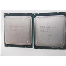 Lot of two Intel Xeon E5-1620 SR0LC 3.6GHz QUAD Core LGA 2011 Processor CPU