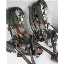 Lot Of 2 Scott Air-Pak 4.5 SCBA Firefighter Harness W/ HUD E-Z Flo & More