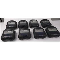 Lot Of 8 Zebra RW 420 Mobile Thermal Printers R4D-0UBA000N-10 - SEE DESCRIPTION