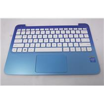 HP 11-D010WN Laptop Palmrest +Touchpad w/ Keyboard Assembly