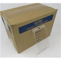 "NEW Uline S-20790 Stackable Storage Bin Clear Lids 7 1/2 X 4"" Case Of 24"