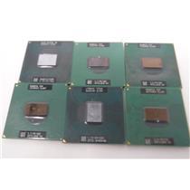 Lot of 6 Intel Pentium M/Celeron/Core Duo/735A/T2250 /M760 /Mobile Processor CPU