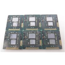 Lot of 6 Intel Core i5/i3/540M/330M/Mobile Processor CPU