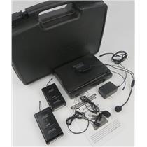 Audio 2000S AWM6032U UHF 2CH Wireless Mic Sys W/ 2x AWX6030M Transmitters & Mics