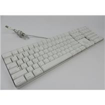 Apple M9034LL/A A1048 Full Sized White & Clear USB Wired Keyboard TESTED WORKING