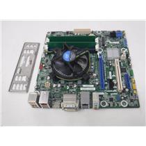 Combo Intel DQ77MK motherboard LGA 1155 w/i3-2105 3.10 GHZ/4 GB RAM/I/O Shield