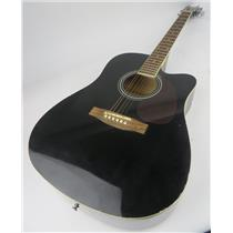 Spectrum Black Full Sized Acoustic Guitar UNKNOWN MODEL - FOR PARTS - SEE DESC