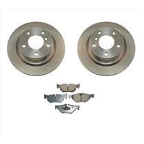 (2) Brake Rotor Rear NewTek 34401 fits 08-12 BMW 128i With Ceramic Pads CD1267