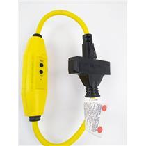 Tower MFG Cat No 304 38 Class A Triple Outlet Tap Rain Proof GFCI Plug