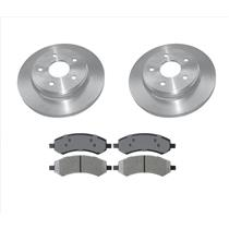 (2) Frt Brake Rotors & Ceramic Brake Pads for 06-09 Ram 1500 5 Stud