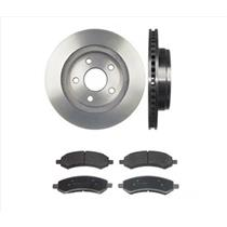(2) Front Brake Rotors & Pads For 06-18 Ram 1500 Pick Up 5 Stud Ceramic Pads