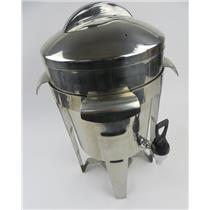 Stainless Steel Coffee Urn / Warm Beverage Dispenser W/ Frame - 1.5 Gallon