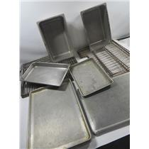 Large Lot Restaurant Equipment Perforated Metal Trays / Racks & Steam Table Pans