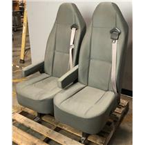 Lot of 2 Ford Cargo Van Grey Bucket Bench Seats LOCAL PICKUP