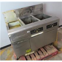 FryMaster FMPH255SC Two Bank Fryer W/ Dump Station & Filtration System -UNTESTED
