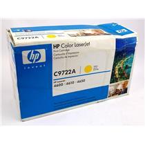 NEW Genuine HP C9722A Yellow Toner Cartridge HP Color Laserjet 4600 4610 4650