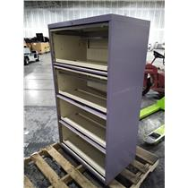Purple 30x18x52 4 Drawer Lateral File Cabinet