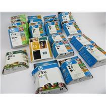Lot Of 18 HP Ink Cartridges Officejet / Deskjet Black / Color - SEE DESCRIPTION
