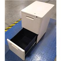 Steel Grayish Orange Two Drawer Lateral File / Folder Cabinet - PICKUP ONLY