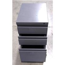 Mobile Steel Dark Grayish Navy 3 Drawer Lateral File/Folder Cabinet PICKUP ONLY