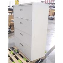 Steel Pale Navy Four Drawer Lateral File / Folder Cabinet - PICKUP ONLY