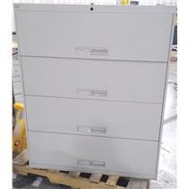 Cole 205088806 light gray / orange 4 Vertical Drawer Steel Cabinet PICKUP ONLY