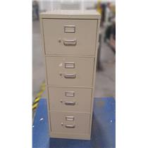 HON 310 Series Light Gray Red 4 Drawer Vertical Metal File Cabinet PICKUP ONLY