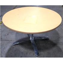 """Pale Orange 48"""" Diameter Round Durable Laminate Top Table With Solid Steel Base"""