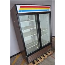 True GDM-49 Double Swing Glass Door Merchandiser Refrigerator - WILL NOT COOL