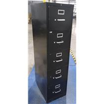 Hon F315 Black 5 Drawer Lateral Metal File Cabinet - LOCAL PICKUP ONLY