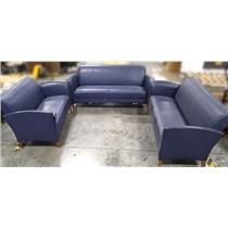 Three Futon Pieces St. Timothy Living Room Blue Sofa - LOCAL PICKUP ONLY