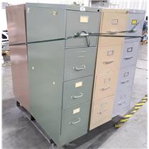 Lot of 6 Mixed Brand 4 Drawer Metal File Cabinet - LOCAL PICKUP ONLY