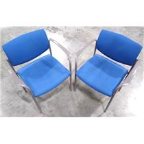 Lot of Two Steelcase 475412M Office Chair Blue - LOCAL PICKUP ONLY