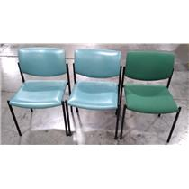 Lot of 3x Steelcase 475410M Office Chair Green - LOCAL PICKUP ONLY