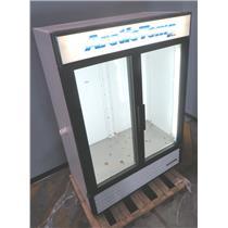 True GDM-49 Double Swing Glass Door Merchandiser Refrigerator - TESTED & WORKING