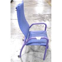 Patio / Garden Style Relaxing Purple Steel Chair - LOCAL PICKUP ONLY