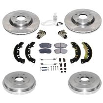 With Rear Brake Drums Brake Shoes Rotors Pads for Nissan Sentra 13-19 1.8 ONLY