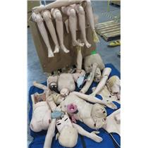 Lot Of Laerdal Patient Simulator Parts Heads Arms Legs Torso & More - SEE PHOTOS