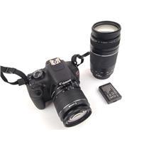 Canon EOS Rebel T5 Digital Camera 18MP & 2x Lenses 323 Shutter Count