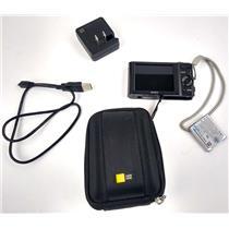Sony Cyber-Shot DSC-W800 20.1MP Digital Camera 720P 5x Zoom Black w/ Case Logic