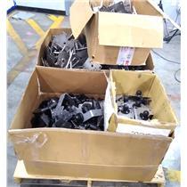 Lot of 635 Mixed Metal Pieces Brackets Panavise 329 336MDT 45-90° Tilt Head/Base