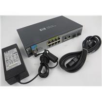 HP J9137A ProCurve 2520-8-PoE Ethernet Switch - 8 Port 10/100 W/ Power Supply