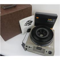 Kodak Ektagraphic III A Analog Slide Projector W/ Slide Carousel - Manual & Case