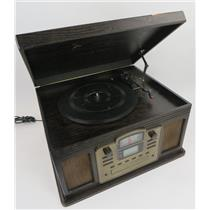 Crosley CR2405C-ES Director Turntable / Radio / CD / Cassette Player - WORKING