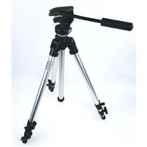 Bogen Manfrotto 3011 Aluminum Tripod & 3126 Micro Fluid Head Pro Camera Support