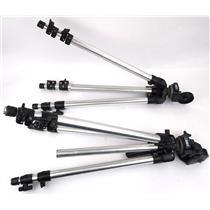 Lot of 2x Bogen Manfrotto 3011 Aluminum Tripod & 3126 Head Pro Camera Support