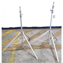 """Lot of 2x Colortran Tripod Impact Light Stands / Support Adjustable Up To 140"""""""