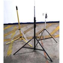 """Lot Of 3x Mixed Tripod Impact Air-cushioned Light Stand Adjustable Up To 120"""""""